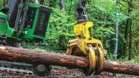 John Deere: New felling head for steep slopes