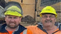 Father and son graduate forestry course together
