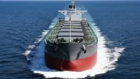 Largest vessel to load logs from New Zealand